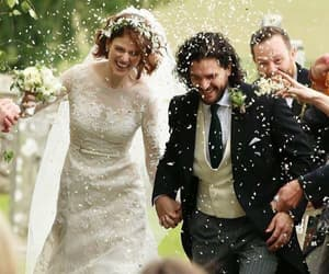 wedding, game of thrones, and kit harington image