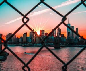 city, photography, and sunset image
