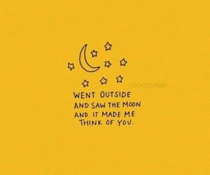 quotes, yellow, and moon image