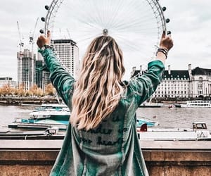 adventure, hair, and london image