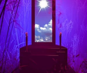 painting, portal, and purple image