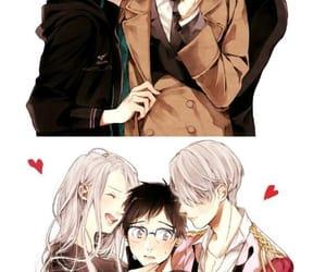 anime, viktor nikiforov, and yuri katsuki image
