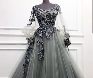 dresses, glam, and silver image