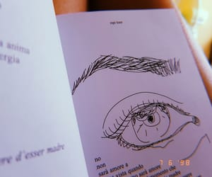 books, eyes, and foto image