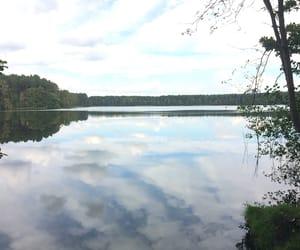 cloud, lake, and viev image