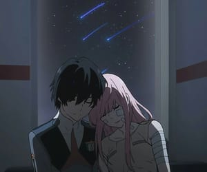 hiro, zero two, and darling in the franxx image