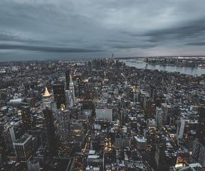 city, lights, and wallpaper image