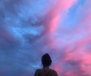 aesthetic, pink sky, and summer image