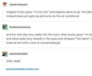 bucky, civil war, and funny image