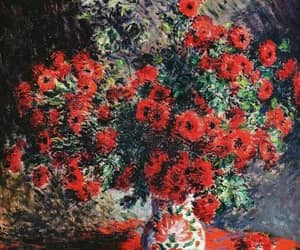 red, art, and flor image