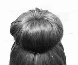 blackandwhite, hair, and hairstyle image