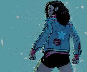 Marvel, america chavez, and Miss America image
