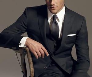 man, suit, and gentleman image