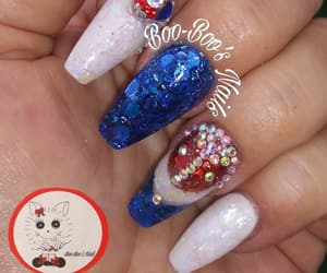 bling, red white and blue, and rhinestones image