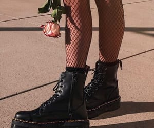 boots, grunge, and rose image
