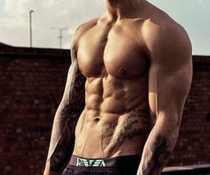 abs, muscles, and v line image