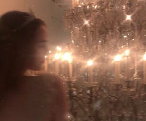 girl, chandelier, and pretty image
