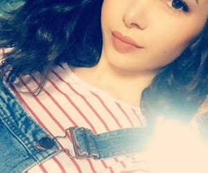 girl, self, and selfie image