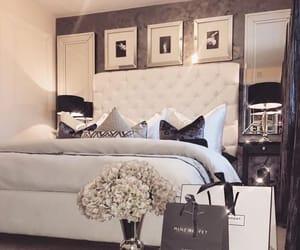 bedroom, black, and luxury image