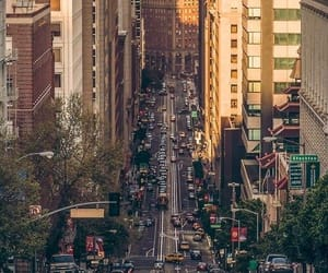 big city, bright, and streets image