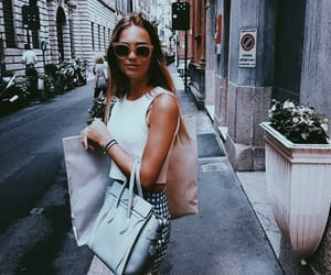 bags, girl, and shopping image