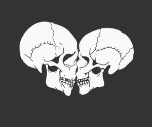 amor, dark, and skulls image