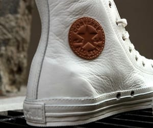 chuck taylor, white, and converse image