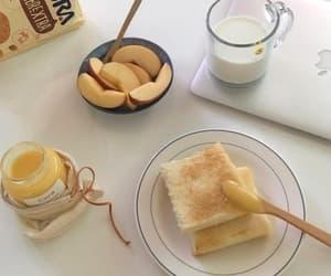 apple, breakfast, and milk image