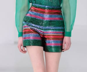 fashion, runway, and stripes image