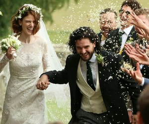 wedding, kit harington, and rose leslie image