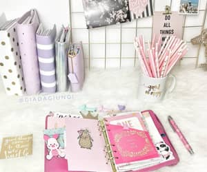 pink, planner, and scrapbooking image