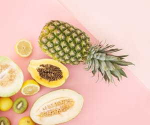 food, fruit, and pineapple image