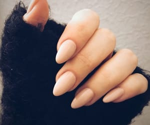 nails, black, and Nude image