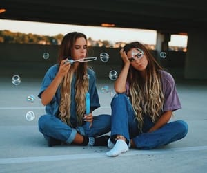 friends, friendship, and bubbles image