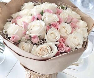beautiful, bouquet, and pink image