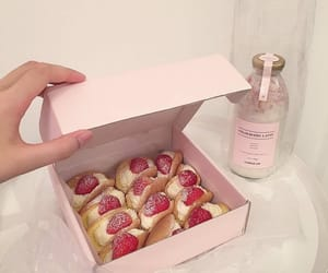 pink, strawberry, and food image