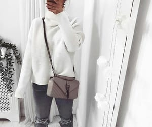 fall fashion, style white, and white cozy image