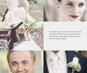 draco malfoy, hermione granger, and dramione image