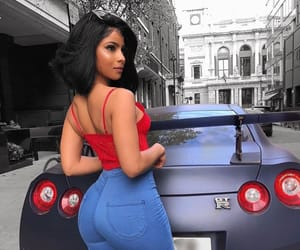 beauty, car, and ferrari image