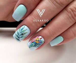 girl, nail art, and manicure image