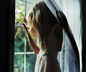 girl, window, and photography image