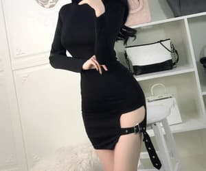 90's, black, and dress image