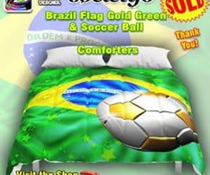 brazil soccer, bluedarkart designer, and comforters image