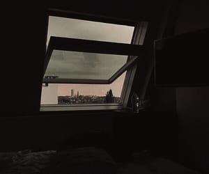 aesthetic, dark, and window image
