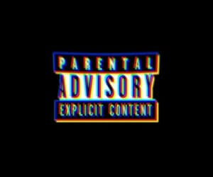 black, glitch, and parental advisory image