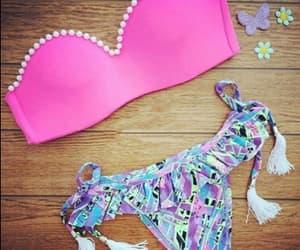 estampa, pink, and biquini image