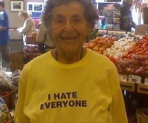 hate, funny, and grandma image