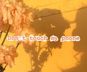 flowers, don't touch my phone, and yellow image