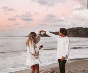 couple, beach, and Relationship image