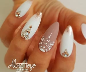 diamond, manicure, and fashion image